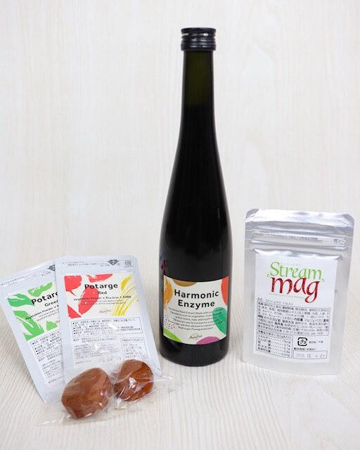 パーソナル食事指導1ヶ月コースに含まれるファスティングサポート商品