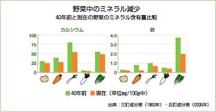 野菜中のミネラル減少